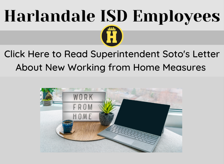 New Working from Home Measures per Superintendent Soto